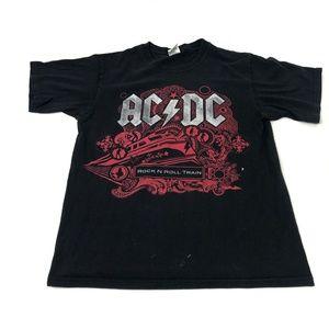 ACDC 2009 Rock N' Roll Train Tour Tee Size Medium